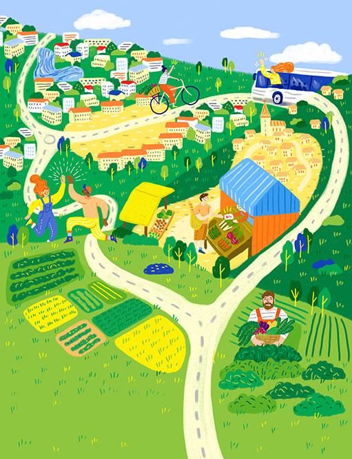 Dessin ville verte - Crédit Julianne Huon
