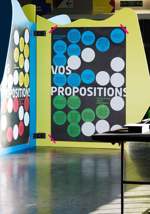 Panneaux d'exposition pour Bordeaux 2050 au H14 (c) JC. Garcia