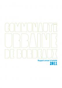 Couverture Rapport annuel d'activité 2011
