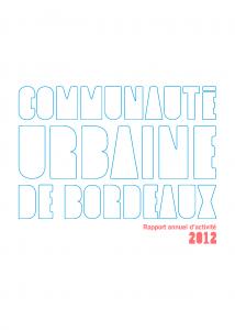 Couverture Rapport annuel d'activité 2012